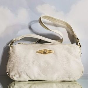 ELLIOTT LUCCA- WHITE LEATHER BAGUETTE